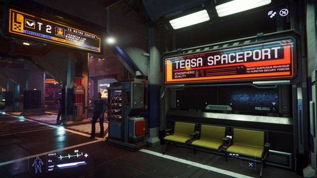 A screenshot of the Teasa Spaceport station at Lorville