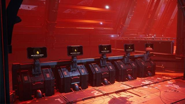 A row of ship retrieval consoles at Grim Hex