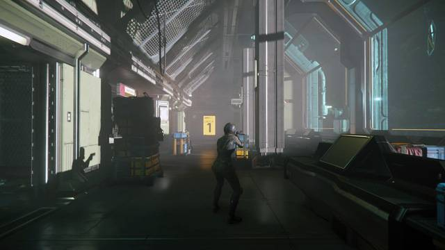 a view of a corridor at Security Outpost Kareah