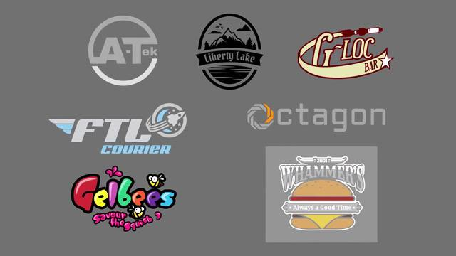 Brand logos from Area 18 on ArcCorp