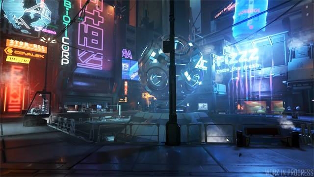 The plaza in Area 18 on ArcCorp